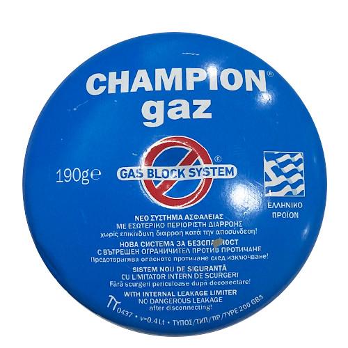CHAMPION ΦΙΑΛΙΔΙΟ 190gr Gas Block System(ΕΛ)