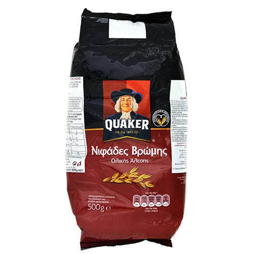 QUAKER νιφάδες βρώμης ολικής 500γρ (ΕΛ)