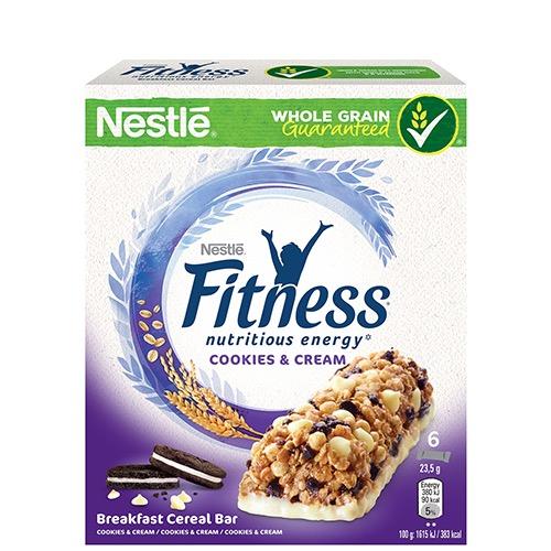 FITNESS μπάρες δημητριακών 6τεμ cookies-cream (ΕΛ)