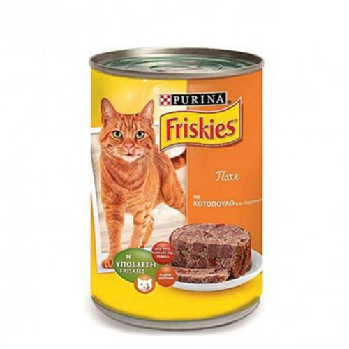 FRISKIES κον.γάτας 400gr(ΕΛ) pate κοτόπ & λαχανικά