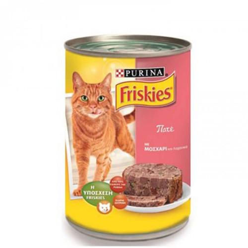 FRISKIES κον.γάτας 400gr(ΕΛ) pate μοσχ & λαχανικά