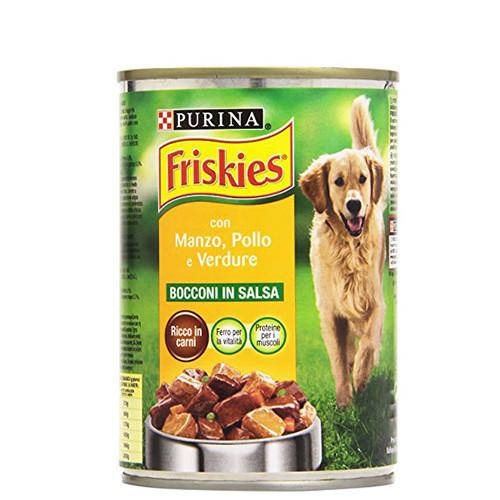 FRISKIES κον. σκύλου 400gr βοδινό-κοτόπ-λαχανικά
