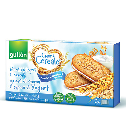 GULLON μπισκότα βρώμης χ.ζάχ. γεμιστά 220gr yogurt
