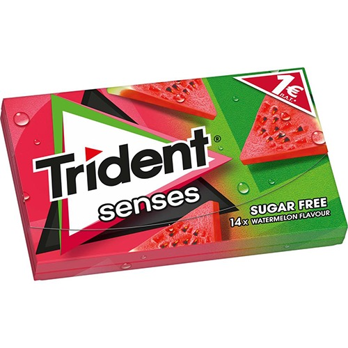 TRIDENT senses 27grX12τσιχ 1€ (EΛ) καρπούζι