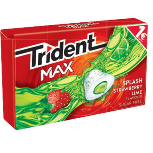 TRIDENT splash 22grX16τσιχ 1€ (ΕΛ) φράουλα-λεμόνι