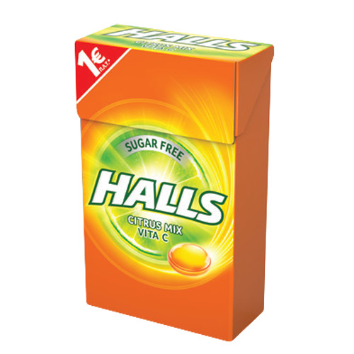 HALLS 28gr VITA C κουτί citrus 1€ (ΕΛ)