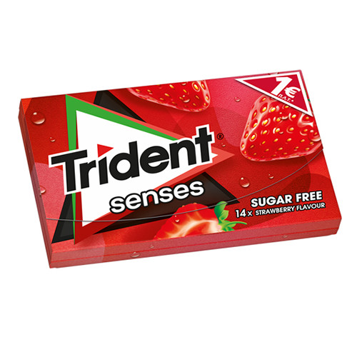TRIDENT senses 27grX12τσιχ 1€ (ΕΛ) φράουλα
