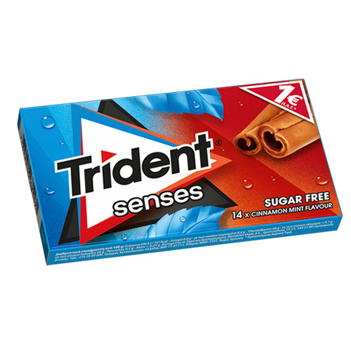 TRIDENT senses 27grΧ12τσιχ 1€ (ΕΛ) κανέλα-μέντα