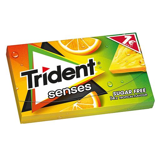 TRIDENT senses 27grΧ12τσιχ 1€ (ΕΛ) τροπικά φρούτα