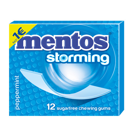 MENTOS storming τσίχλες (ΕΛ) peppermint