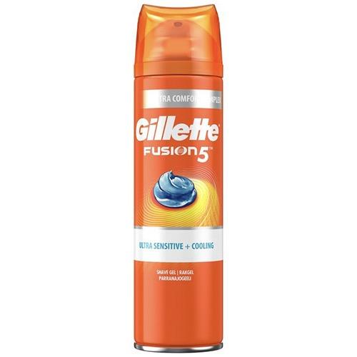 GILLETTE fusion shave gel 200ml ultra sens+cooling