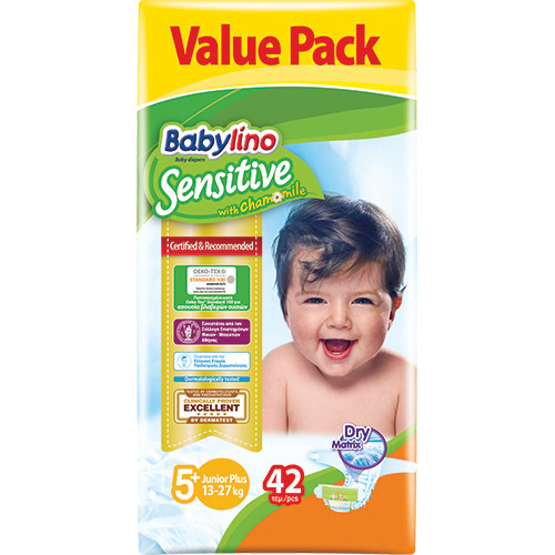 BABYLINO No5+ SENSITIVE 13-27Kgr 42τεμ (ΕΛ)