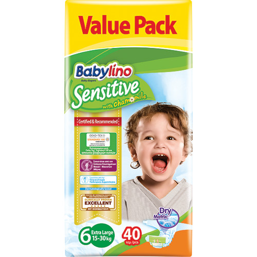 BABYLINO No6 SENSITIVE 15-30Kgr 40τεμ (ΕΛ)