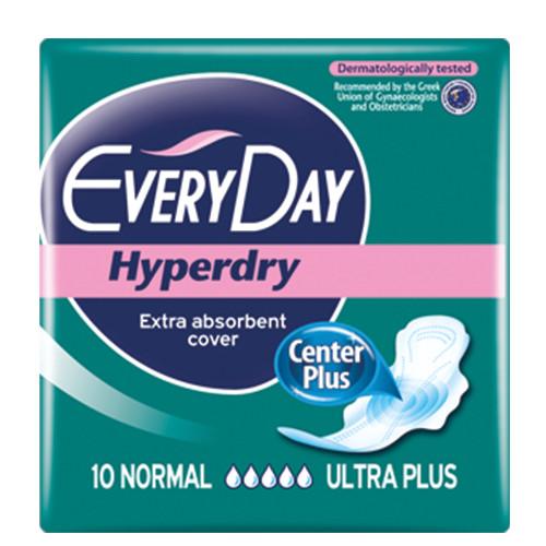 EVERYDAY σερβιέτες hyperdry 10τεμ (ΕΛ) normal