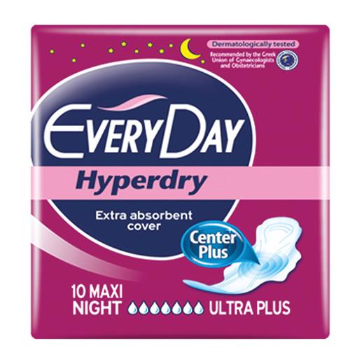 EVERYDAY σερβιέτες hyperdry 10τεμ (ΕΛ) max night