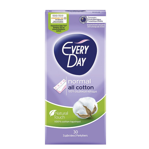 EVERYDAY σερβιετάκια 30τεμ (ΕΛ) normal cotton