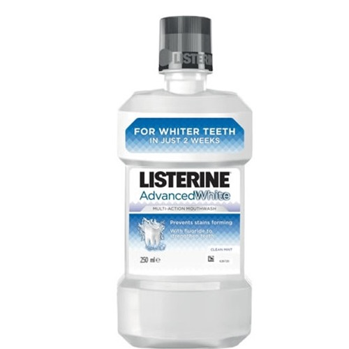 LISTERINE 250ml advanced white (ΕΛ)