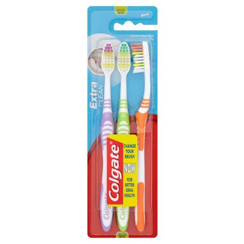 COLGATE οδοντόβουρτσα extra clean 3τεμ