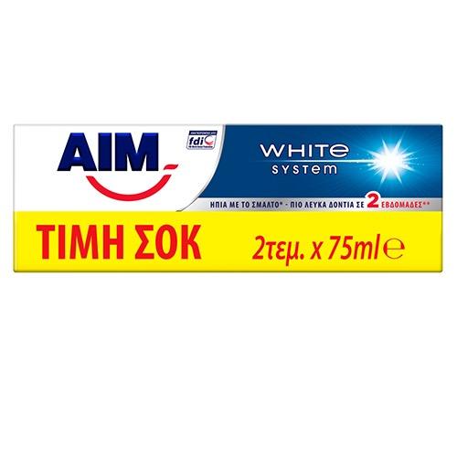 AIM οδοντ.2X75ml (ΕΛ) white system