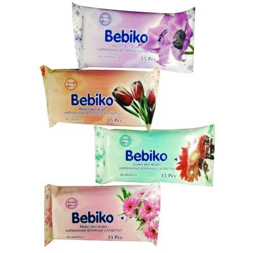 ΥΓΡΑ ΜΑΝΤΗΛΑΚΙΑ Bebiko pocket 15τεμ (ΕΛ)