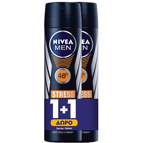 NIVEA spray 150ml 1+1 men (ΕΛ) stress protect