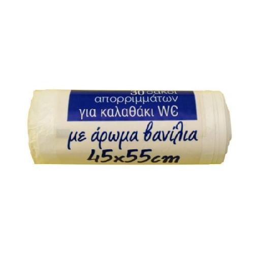 ΣΑΚΟΙ ΑΠΟΡ 45Χ55 καλαθάκι NO NAME 30τεμ(ΕΛ)λευκό