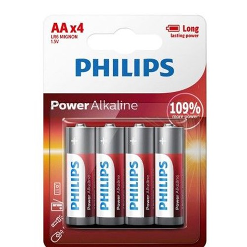 PHILIPS POWER ALKALINE AA 4τεμ (ΕΛ)