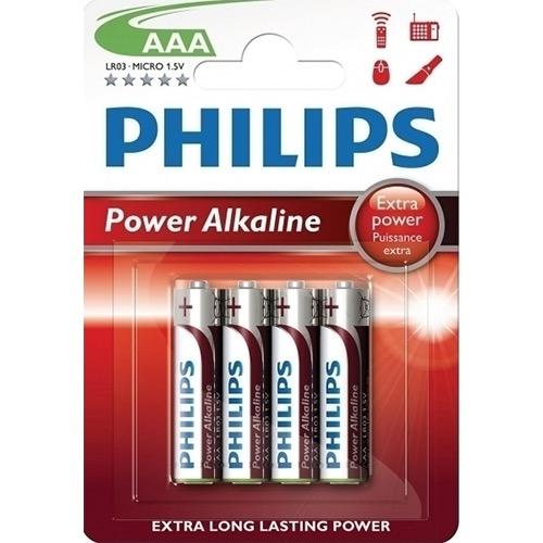 PHILIPS POWER ALKALINE AAΑ 4τεμ (ΕΛ)