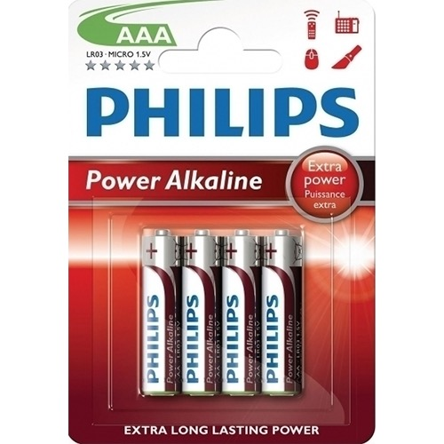 PHILIPS POWER ALKALINE AAΑ 4τεμ (ΕΛ)