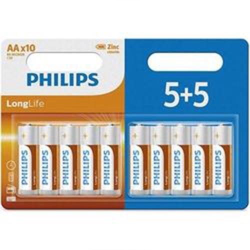 PHILIPS LONG LIFE AΑ 5+5 ΔΩΡΟ (ΕΛ)