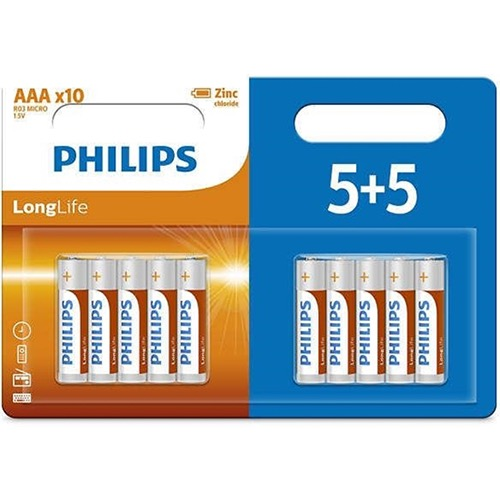 PHILIPS LONG LIFE AΑΑ 5+5 ΔΩΡΟ (ΕΛ)