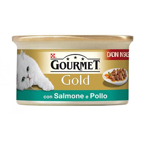 GOURMET GOLD 85gr σολομός κοτόπουλο