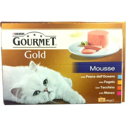 GOURMET GOLD 85gr x 12 mousse mix