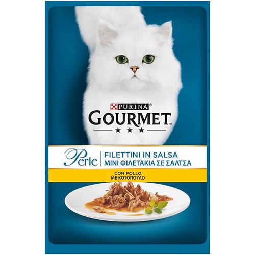 GOURMET PERLE 85gr (ΕΛ) κοτόπουλο