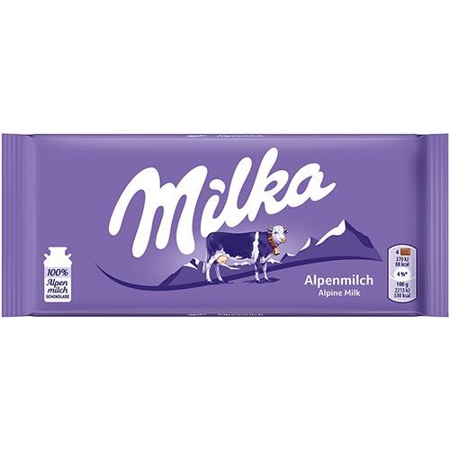 MILKA ΣΟΚΟΛΑΤΑ 100gr alpine milk
