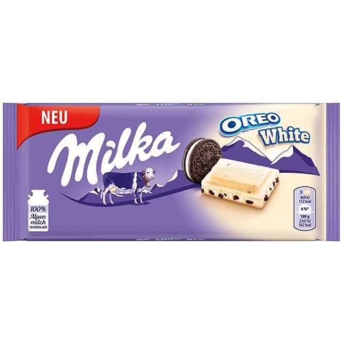 MILKA ΣΟΚΟΛΑΤΑ 100gr white oreo