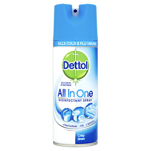 DETTOL απολυμαντικό spray 400ml crisp linen