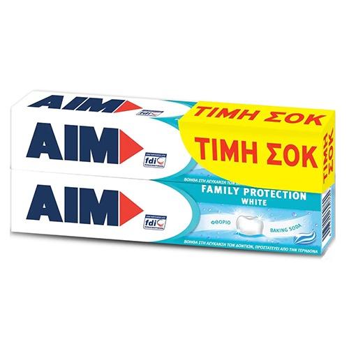 AIM οδοντ.2X75ml (ΕΛ) protection white