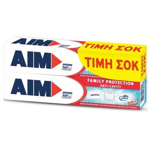 AIM οδοντ 2X75ml (ΕΛ) family protection