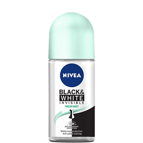 NIVEA roll on 50ml women b&w invis fresh mist 48h