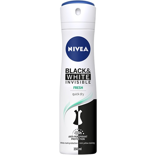 NIVEA spray 150ml women b&w invisible fresh 48h