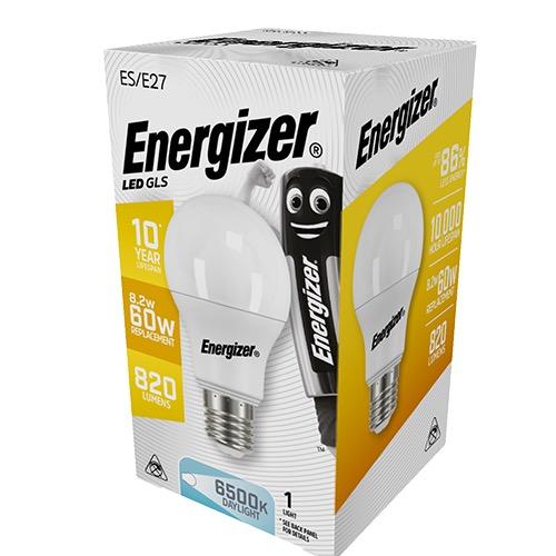 ENERGIZER LED GLS E27 9/60W DAYLIGHT 6500k