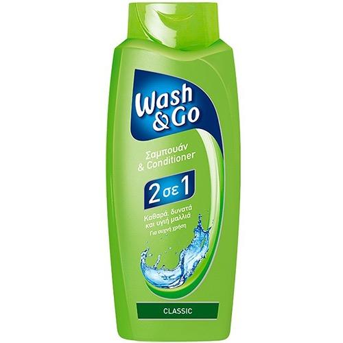 WASH & GO sh. 700ml ΕΛ) 2in1 classic