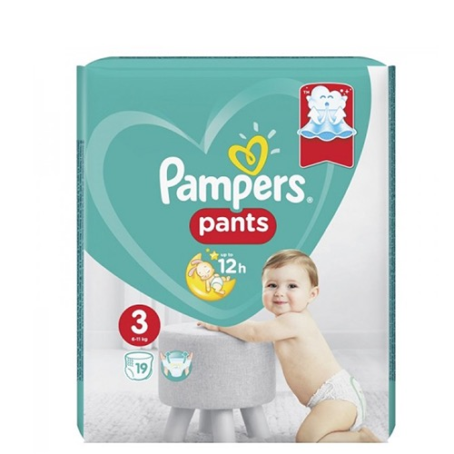 PAMPERS PANTS 24τεμ No3 (6-11kgr)