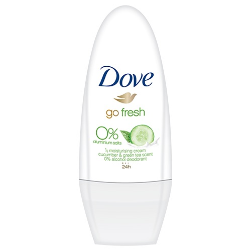 DOVE deo roll on 50ml 0% cucumber