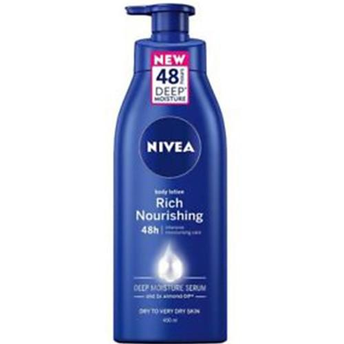 NIVEA body milk 400ml αντλία (ΕΛ) 48h rich nourish