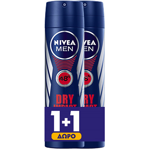NIVEA spray 150ml 1+1 men (ΕΛ) dry impact