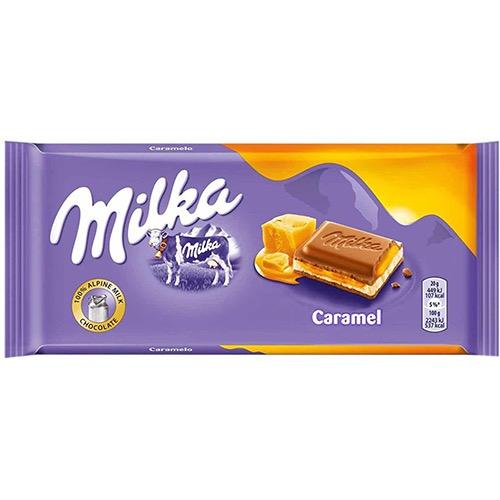 MILKA ΣΟΚΟΛΑΤΑ 100gr caramel