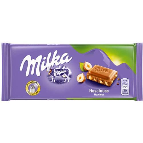 MILKA ΣΟΚΟΛΑΤΑ 100gr hazelnuts