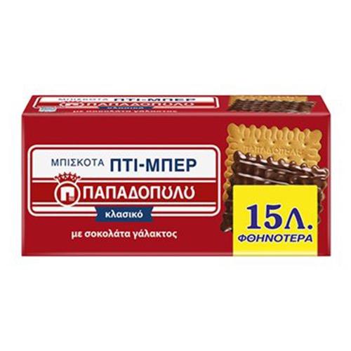 ΠΑΠΑΔΟΠΟΥΛΟΥ ΠΤΙ ΜΠΕΡ 200γρ -0,15 ΕΛ σοκ γάλακτος